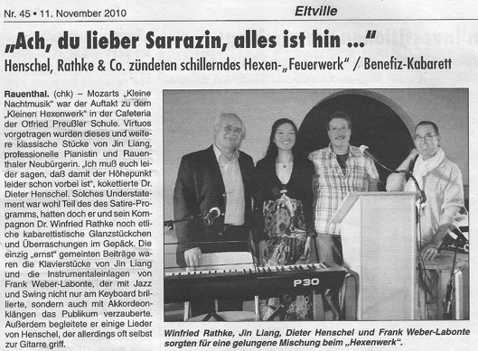 Artikel aus dem Rheingau Echo vom 11. November 2010